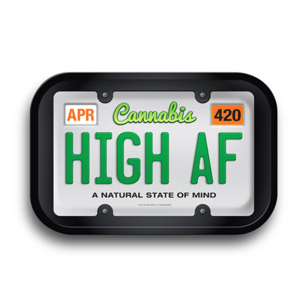 Hemp High AF License Plate Rolling Tray