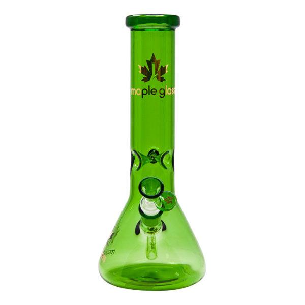 "Maple Glass Green Colour Beaker Water Pipe 12""/30.4cm"