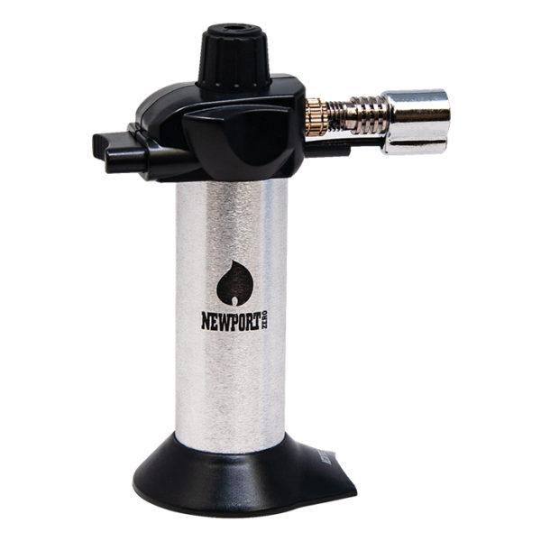 """Newport Zero 5.5"""" Mini Butane Torch - Silver Ying Yang"""