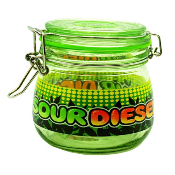 Dank Tank Airtight Glass Storage Jar - Sour Diesel
