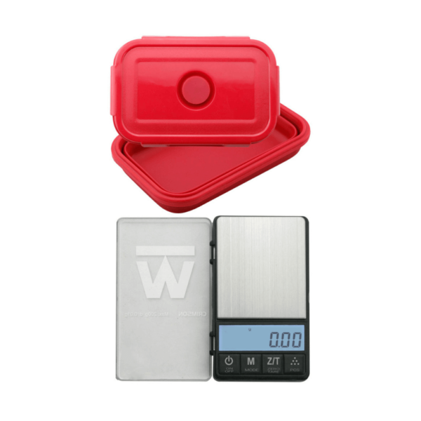 Truweigh Crimson Collapsible Bowl Scale - 200g (0.01g)