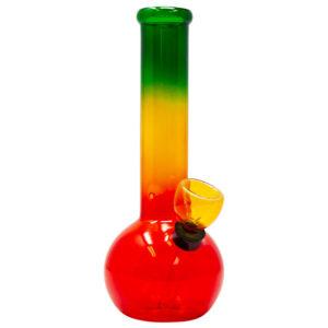 Rasta Coloured Glass Bong – 17cm