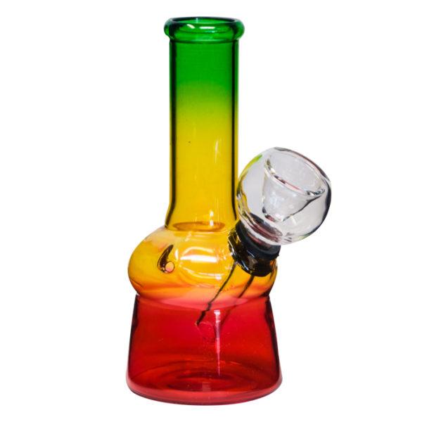 Rasta Coloured Glass Bong – 13cm