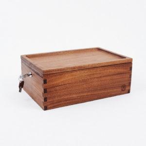 Marley Natural Storage Lock Stash Box – Black Walnut