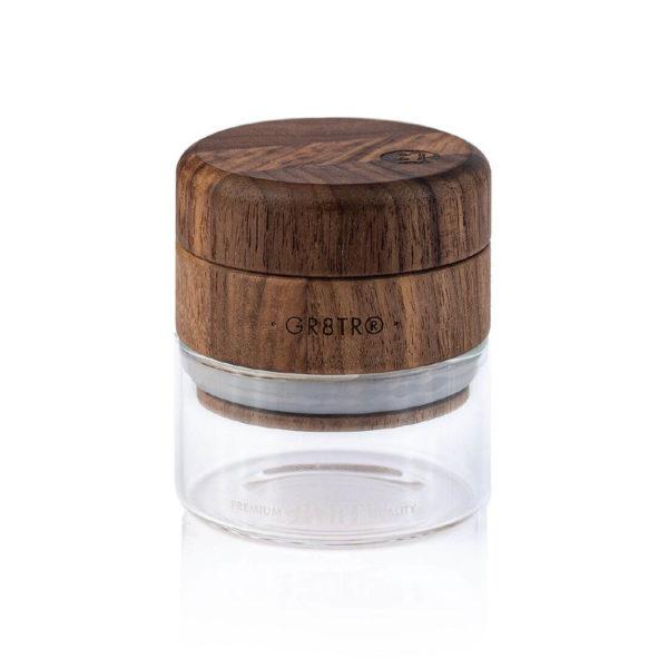 "RYOT - Wood GR8TR with Clear Glass Jar Body – 2.5""/63mm"