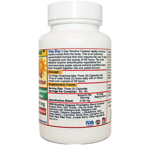 Nicotine Chemicals Flush- 48 Hours to Cleanse Formula – New Day