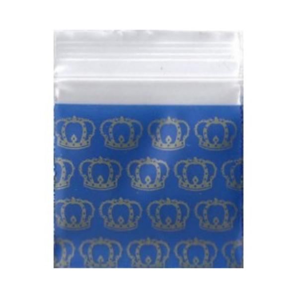 Original Apple Mini Ziplock Bags – Blue Crown (38mm x 38mm) x100
