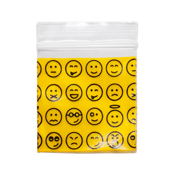 Original Apple Mini Ziplock Bags – Emoji Bag (38mm x 38mm) x100