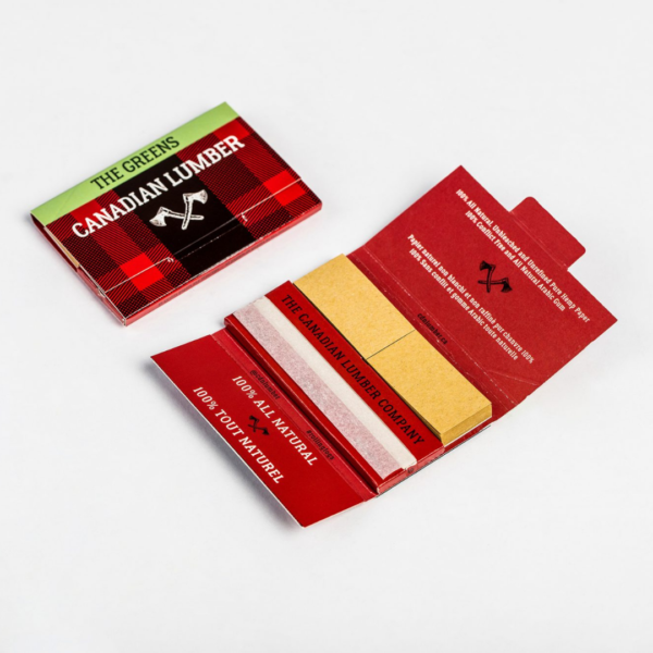 Canadian Lumber 1 ¼ Rolling Paper w/Tips – The Greens