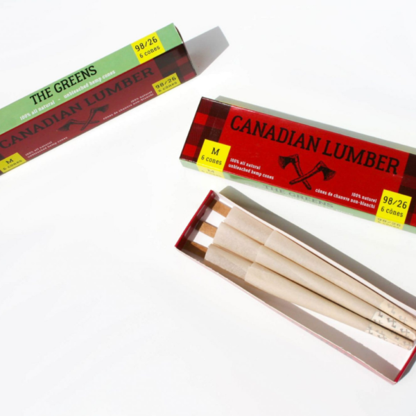 Canadian Lumber 1 ¼ Pre-Rolled Cones – The Greens – 6 Pack