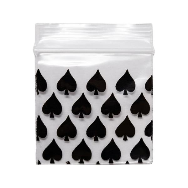 Original Apple Mini Ziplock Bags – Black Spade Bag (38mm x 38mm) x100