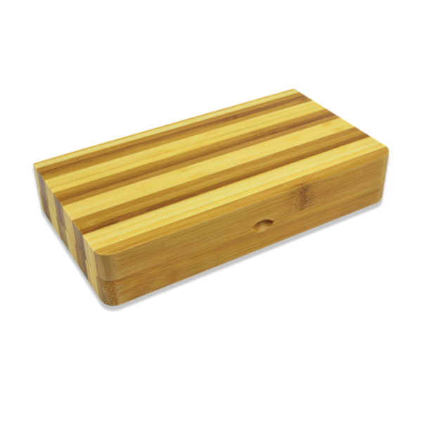 RAW Back Flip Striped Bamboo Rolling Tray