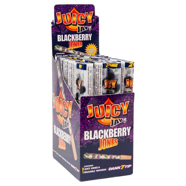 Juicy Jay's Jones Blackberry Flavoured Pre Rolled 1 ¼ Cones - 2 Pack