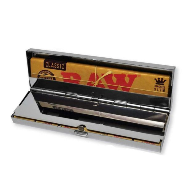 RAW Stainless Steel Paper Case – King Size + Tips