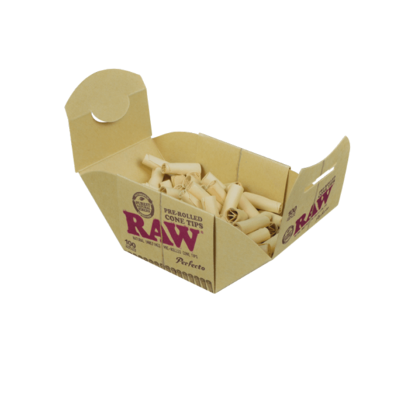 RAW Perfecto Pre-Rolled Cone Tips Box