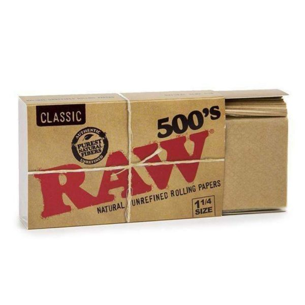 Raw Classic Creaseless 1¼ Rolling Papers – 500's