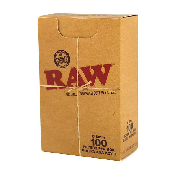 RAW 100% Cotton Filters Box – 100 Filters
